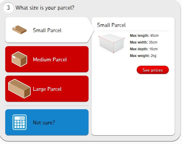 Parcel costs
