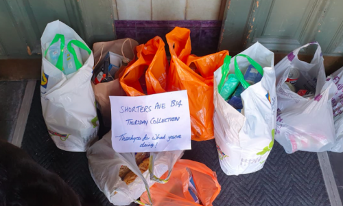 Some of the food parcels from the food bank